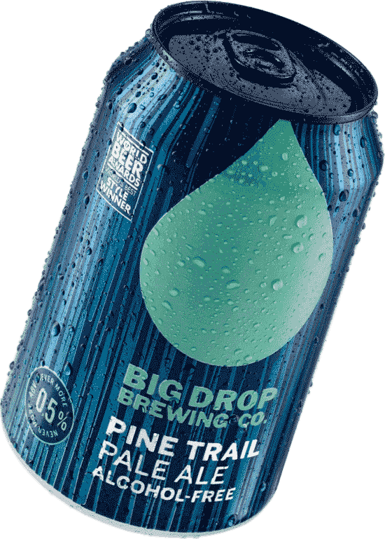 A picture of Big Drop Brewing Co's alcohol-free Pale Ale can